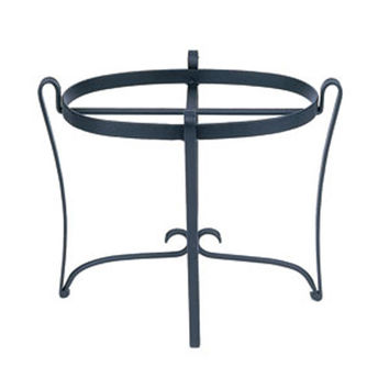 ACHLA Designs FB-09 Oval Wrought Iron Plant Stand
