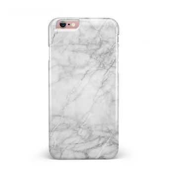 White Scratched Marble iPhone 6/6s or 6/6s Plus Candy Shell Case