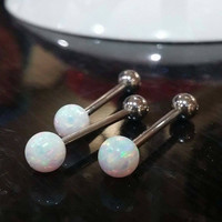 New and improved opal tounge ring with larger 6 mm ball