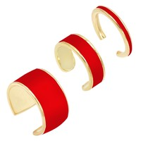 Enamel Ear Cuff Set