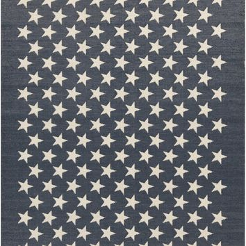 US Flag Outdoor Rug Blue / Red / White