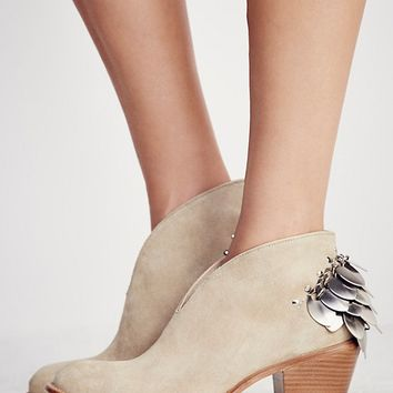 Free People Silver Diamond Ankle Boot