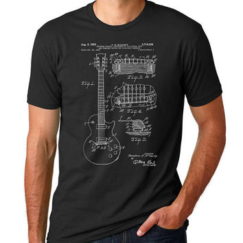 Gibson Les Paul Patent T Shirt, Guitar Shirt, Guitar Player Gift, Electric Guitar  PP7
