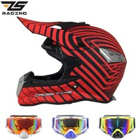 ZS Racing New Motocross Helmet Motorcycle Racing DOT Helmet ABS Knight Off The Wild Helmets With Goggles