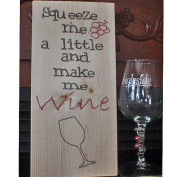 Wine sign, wine wood sign,wooden wine sign, home decor, kitchen decor, funny sign, wine decor, wine lover, FREE SHIPPING