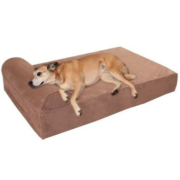 "Big Barker 7"" Pillow Top Orthopedic Dog Bed for Large and Extra Large Breed Dogs (Headrest Edition) - Walmart.com"