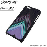 Chevron Purple Triangle Smooth Case For Iphone 5C Case