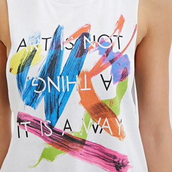 Active Art Graphic Muscle Tee
