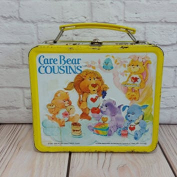 Vintage Care Bear Cousins Metal Lunch Box 1985 American Greetings