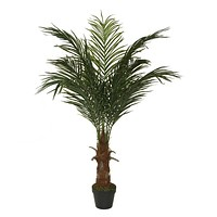 "47.25"" Decorative Potted Artificial Brown and Green Phoenix Palm Tree"