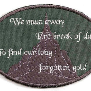 Hobbit Misty Mountains Cold Patch by StoriedThreads on Etsy