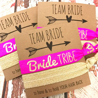 Bachelorette Hair Tie Favors |  Team Bride  | Party Favors Gift To Have and To Hold
