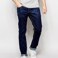 Bellfield Indigo Rinse Wash Tapered Slim Fit Jeans