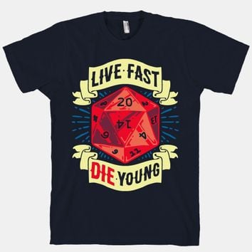Live Fast Die Young D20