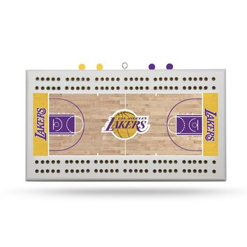LOS ANGELES LAKERS FIELD CRIBBAGE BOARD