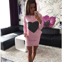 Casual Dress Autumn Long Sleeve Cotton With Pocket One Piece Dress [6050448577]