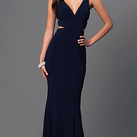Long Faviana Cut-Out Formal Gown
