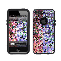 Otterbox iPhone 5 Commuter Series Black Case Stained Glass Pink Teal iPhone 4