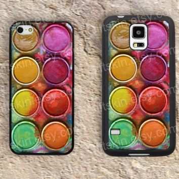 Watercolor box iphone 4 4s iphone  5 5s iphone 5c case samsung galaxy s3 s4 case s5 galaxy note2 note3 case cover skin 185