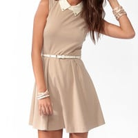 Studded Collar A-Line Dress