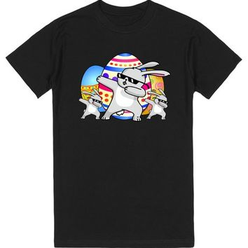 Dabbing Bunny Easter | T-Shirt | SKREENED