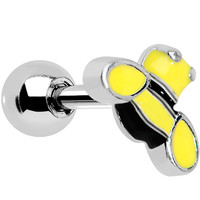 Yellow and Black Buzzing Bee Cartilage Earring | Body Candy Body Jewelry