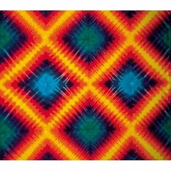Diamonds Pattern - Tie Dye Tapestry