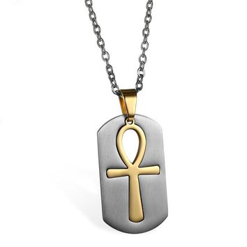 Egyptian Ankh Cross Stainless Steel Necklaces & Pendants