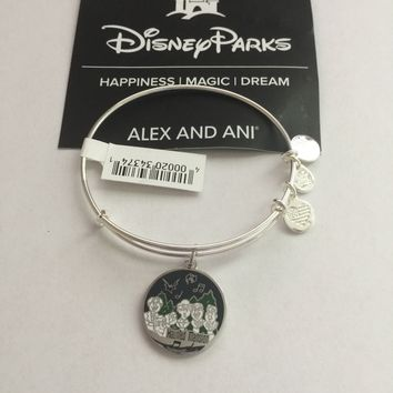 Disney Parks Haunted Mansion Singing Busts Bangle Alex Ani Silver Finish New Tag