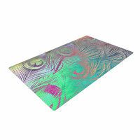 "Alison Coxon "" Indian Summer"" Purple Teal Abstract Woven Area Rug"