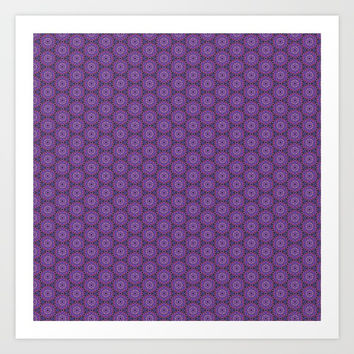 Geometric Flower Pattern 10 Art Print by AlishaDawnCreations