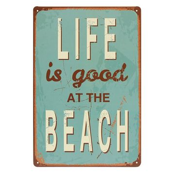 Hot Sale LIFE IS GOOD AT BEACH Metal Sign Decor Tin Retro Painting Pub Coffee Bar Vintage Decorative Painting Artist Work 200x300mm