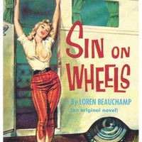 Sin on Wheels 11x17 Retro Book Cover Poster