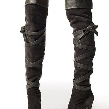 Cuffed Suede Over-the-knee Boot - Colin Stuart?- - Victoria's Secret