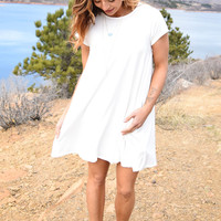 Rocky Mountain Tee Shirt Dress Ivory