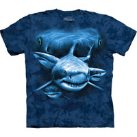 Shark Moon Eyes Collage T-Shirt