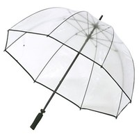 Elite Rain Umbrella Golf-Sized Bubble Umbrella - Black Trim