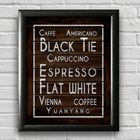 Coffee Kitchen Print, Kitchen Wall Decor, Kitchen Wall Art, Typography Poster, Wall Art, Coffee Print, Kitchen Quote Art, Restaurant Art