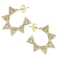 House of Harlow 1960 Jewelry Geodesic Triangle Mini Hoops