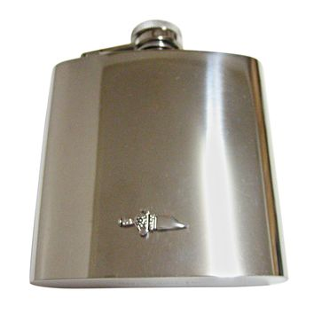 Dagger Sword 6 Oz. Stainless Steel Flask