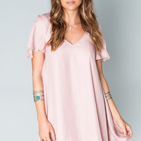 Show Me Your mumu Kylie Mini Dress ~ Petal Pink Silky Satin