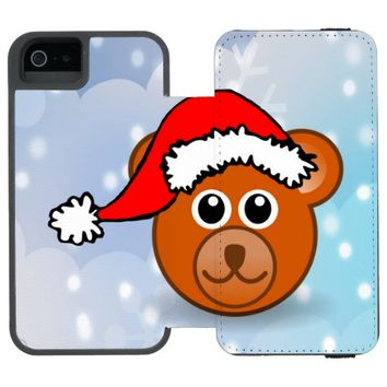 Christmas Bear Wallet Case For iPhone SE/5/5s