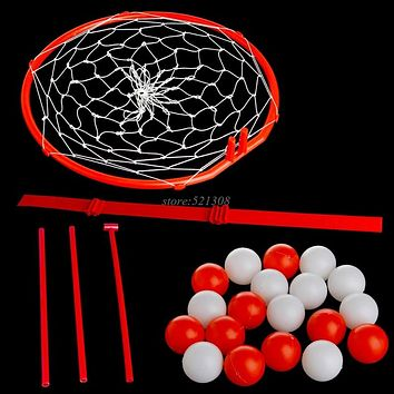 Headband Hoop Ball Toy Catching Basketball Kid Game Head Strap with 20 Balls