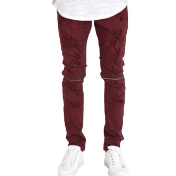 CRYSP Andre Pants In Burgundy