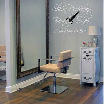 Personalized Beauty Salon Vinyl Wall Decal-Beauty Salon Shop Wall Decal Lettering-Wall Art-Wall Decor