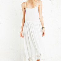 Free People Crochet Hem Dress in White - Urban Outfitters