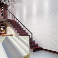Thickened white brick wall wallpaper roll for balcony 3d stone wallpaper for living room 3d papel de parede tijolo
