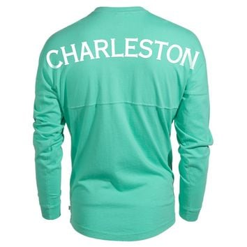 Official NCAA College of Charleston Cougars C of C Women's Long Sleeve Spirit Wear Jersey T-Shirt