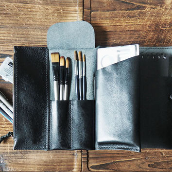 Leather Sketchbook Case #Black