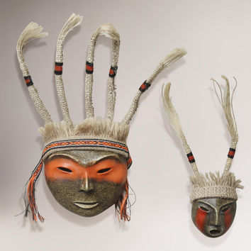 "Novica ""Inca Offering"" Paper Mache Mask Set"